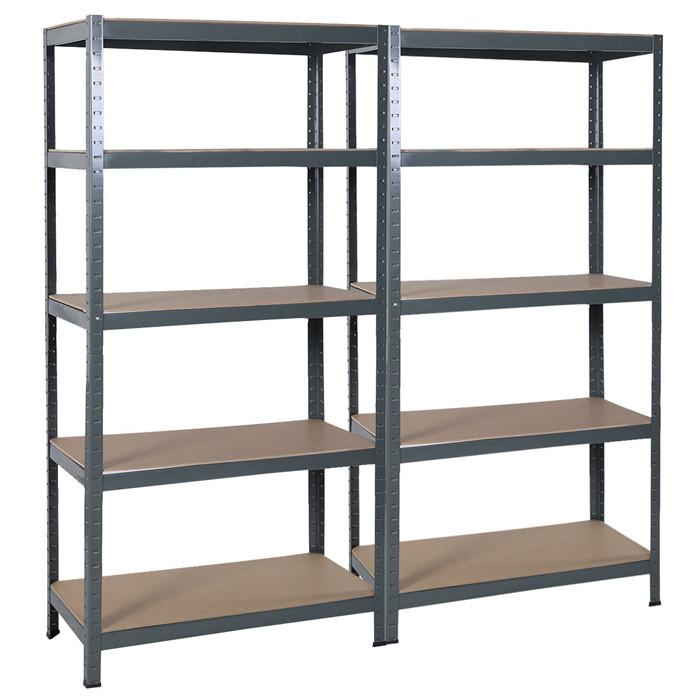 ... Euro Light Shelving Steel 5 Level Garage Shelf Metal Storage Adjustable  Shelves Unit ...